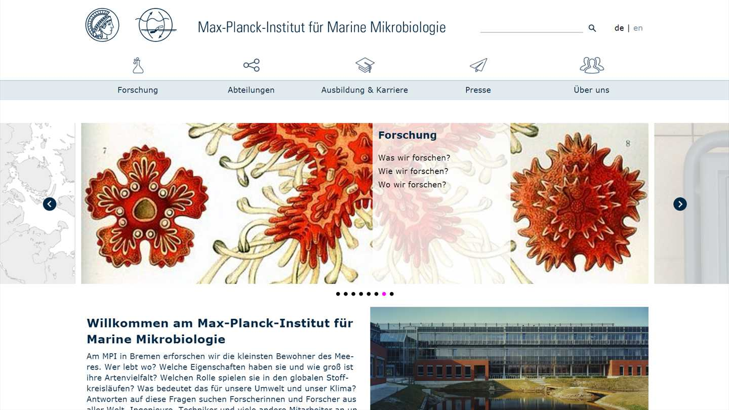 Max-Plank Institut Website